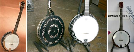 vintage eko banjos with custom inlays