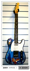 custom pearloid inlayed telecaster