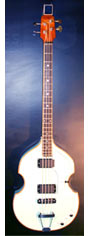 vintage eko acoustic violin bass white